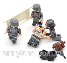 Военные фигурки,Набор Германия мед. отряд, конструктор , аналог лего, BrickArms, фото 2