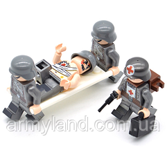 Военные фигурки,Набор Германия мед. отряд, конструктор , аналог лего, BrickArms, фото 3