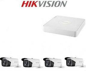 Комплект відеонагляду 3МП 4-камери вуличний Hikvision
