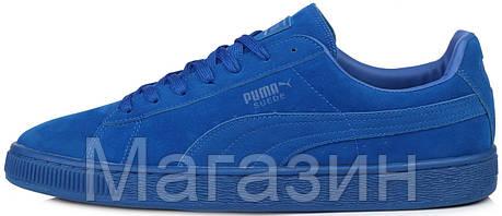 Мужские кроссовки Puma Suede Classic Mono Iced Blue замшевые Пума синие, фото 2