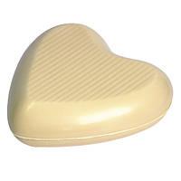 Шоколадна фігурка Солодкий Світ 110г Серце преміум білий шок.