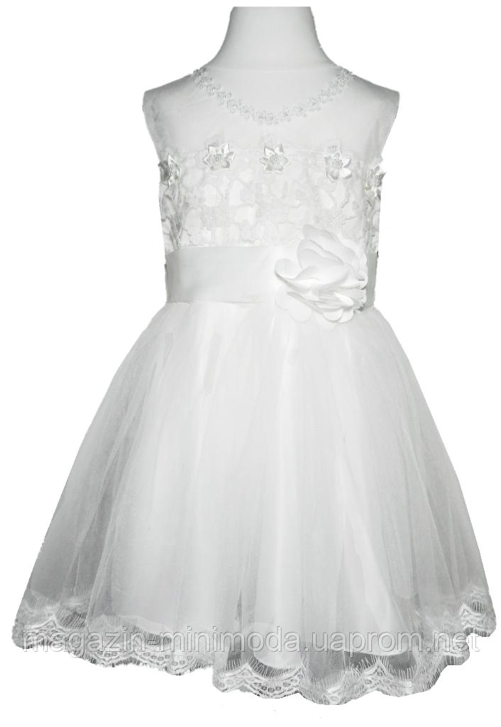 d9112305c09 Детское белое платье