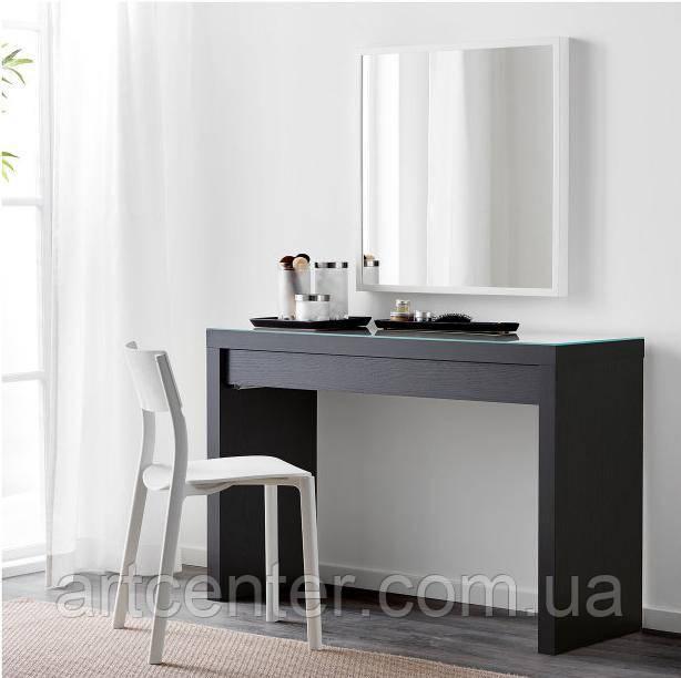 Туалетный столик черный, гримерный столик, стол для визажиста