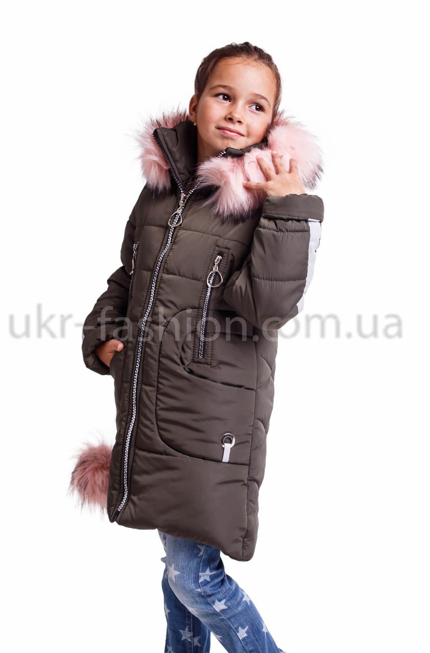 Зимняя  куртка пальто   для девочки подростка  от производителя 32-38