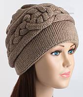 Зимняя женская шапочка Нино цвет бежевый