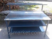 Промышленный стол с нержавейки б/у, столы с нержавеющей стали 1,5 м. б у, нержавеющий стол б у