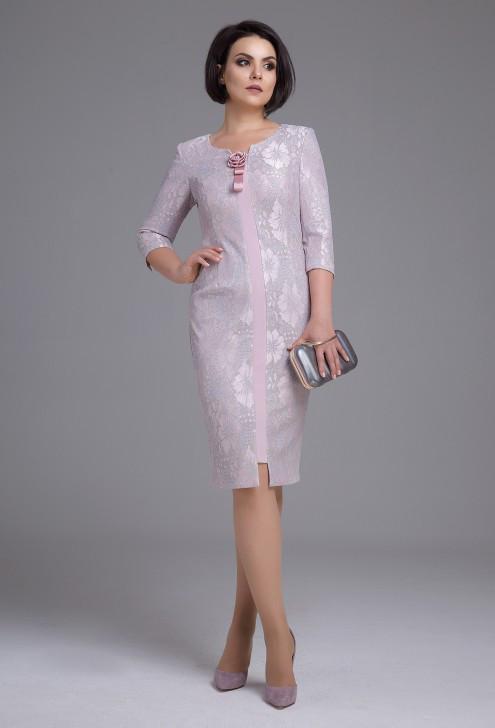Платье женское Беларусь модель ДЖ-1876-18 пудра