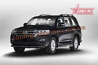 Защита переднего бампера труба d76 черная Союз 96 на Toyota Land Cruiser 200 2015 (эксклюзив TMR )