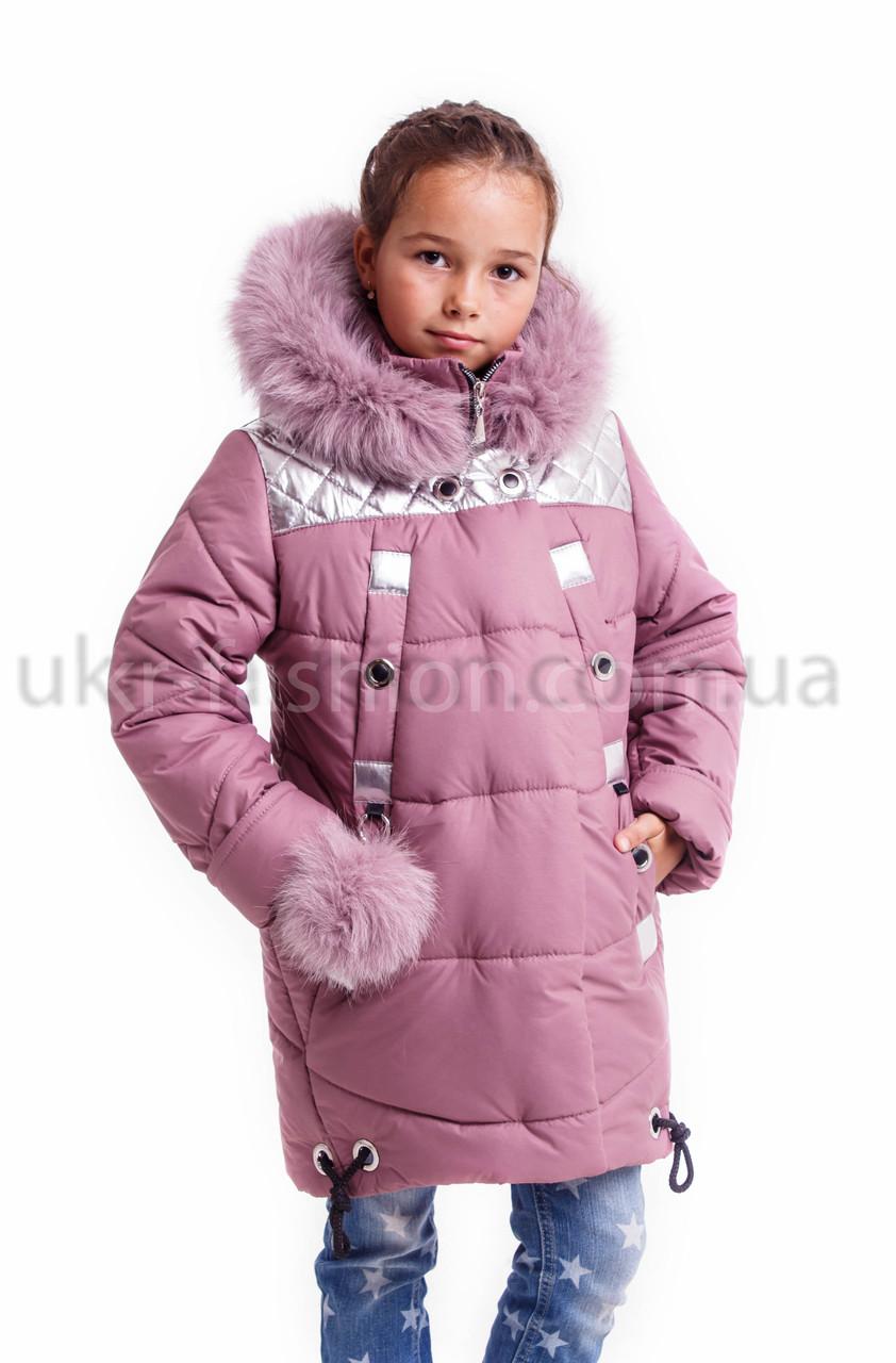 Детские зимние куртки для девочек  интернет магазин 32-42