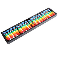 Счеты абакус соробан  с цветными косточками ментальная арифметика 17 рядов 26,5*6,5*1,5см