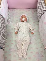 Комплект для ліжечка (захист з подушок та постільна білизна), К38