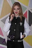 Куртка-бомбер женская| Черный 46, 48 р-р, фото 1
