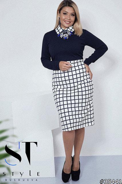 Элегантное трикотажное платье Размеры: 50-52, 54-56