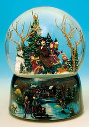 Музыкальный снежный шар с анимацией