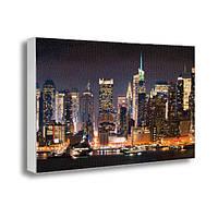 Картина на холсте с принтом Ночной город (22030)