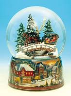 Анимационный шар с автоподдувом снега