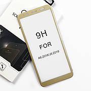 Защитное стекло Premium Samsung A6 / J6 2018  Gold