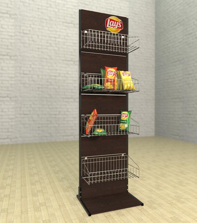 торговые стенды с 4корзинами в магазин 🛒 для снеков илишоколада 180*40*50 см.