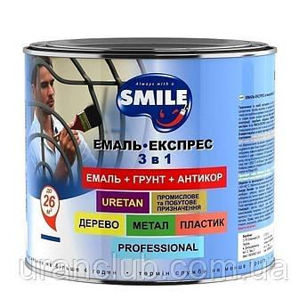"""Эмаль-экспресс 3 в1 антикорриознная """"""""искристый блеск"""" 0,7 кг Зеленая"""