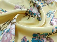 Шелк сатин цветочный букет, желтый