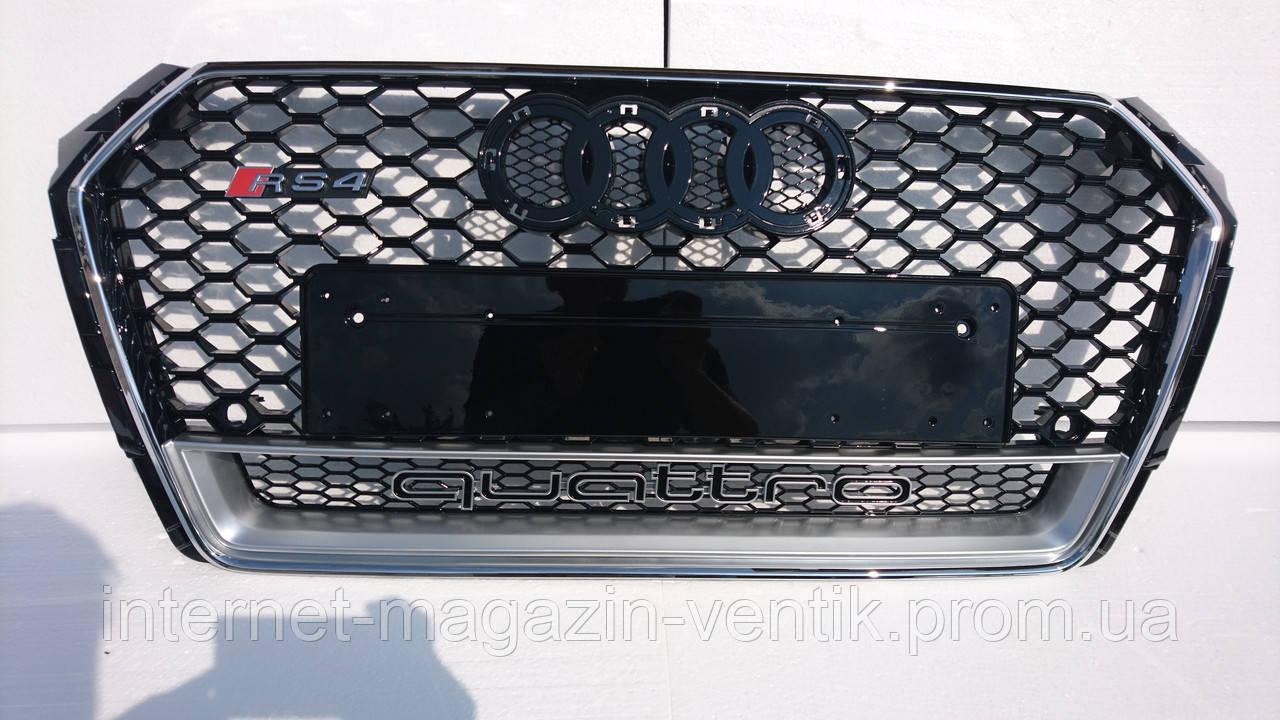 Решетка радиатора Audi A4 B9 RS4 Quattro 2016+