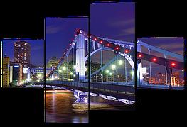 Модульная картина Мост ночью