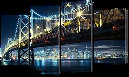 Модульная картина Красивейший ночной мост