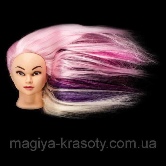 """Учебный манекен с волосами """" MIX colors"""""""