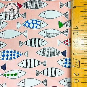 """Сатин """"рыбки на пудровом"""" 160, фото 2"""