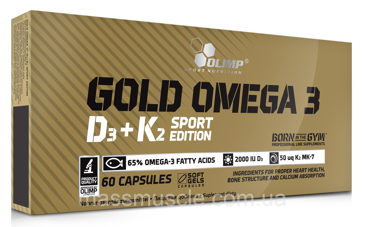 Рыбий жир Olimp Gold Omega 3 D3+K2 Sport Edition 60 caps