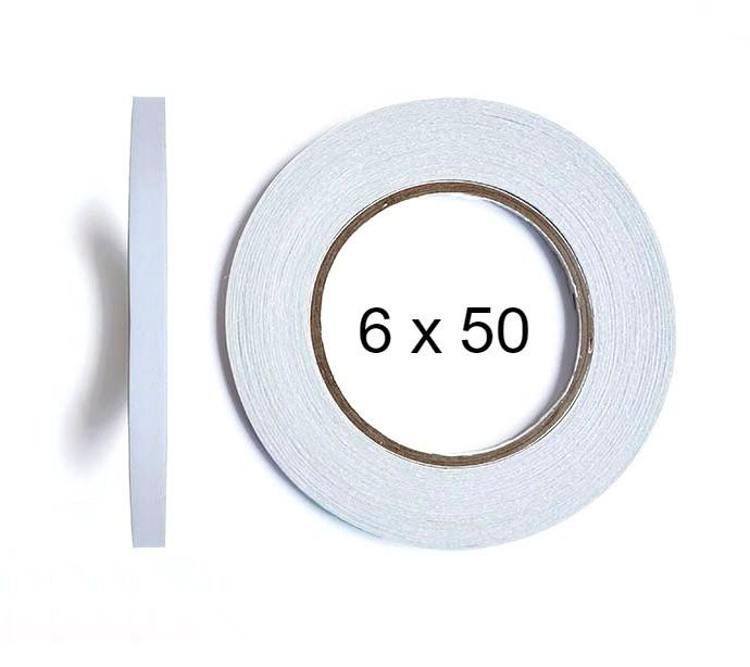 Двухсторонний скотч BOMA 4145 - 6 мм × 50 м (белый)