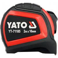 Рулетка стальная с нейлоновым покрытием 2м х 16мм YATO