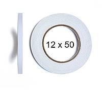 Двухсторонний скотч BOMA 4145 - 12 мм × 50 м (белый)