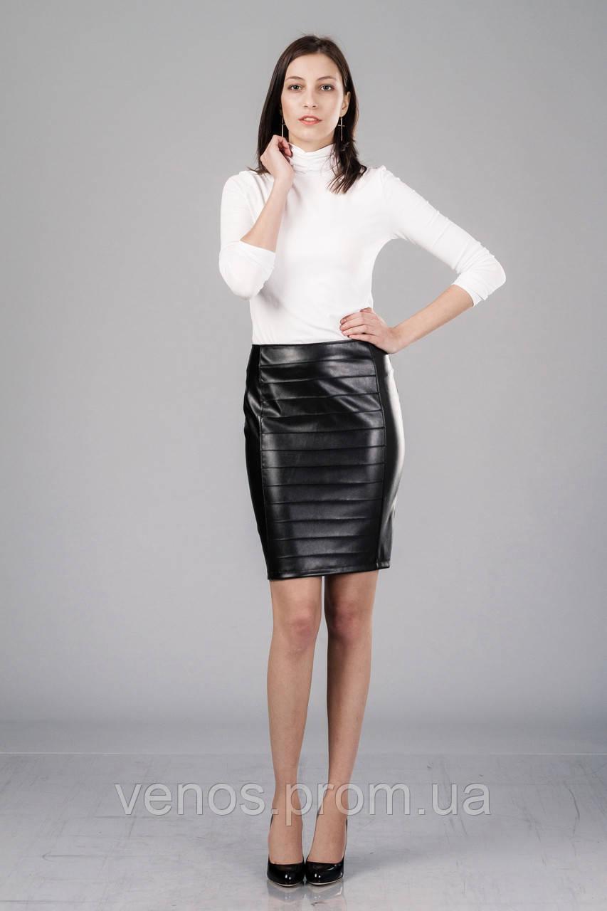 Женская юбка из кожи. Ю090