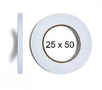 Двухсторонний скотч BOMA 4145 - 25 мм × 50 м (белый)