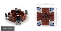 Офисная мебель  Атрибут  5 офисный стол , фото 1