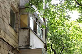 Существенная разница по сравнению с балконом соседей.