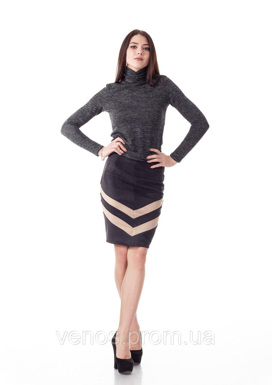 Женская юбка из замша. Ю091