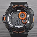 Годинник Skmei Мод.1222 (підсвічування: 7 кольорів), чорний-помаранчевий, в металевому боксі, фото 3