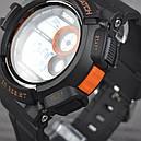 Годинник Skmei Мод.1222 (підсвічування: 7 кольорів), чорний-помаранчевий, в металевому боксі, фото 4