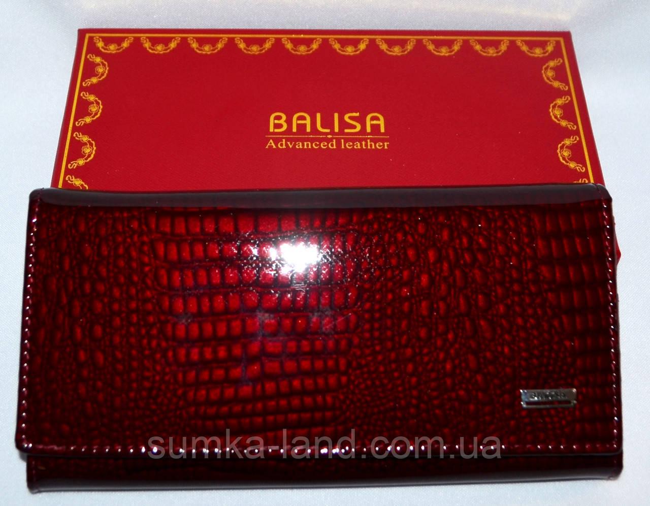 75f05026ee25 Женский лаковый кошелек Balisa из натуральной кожи (бордо): продажа ...