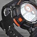 Годинник Skmei Мод.1222 (підсвічування: 7 кольорів), чорний-помаранчевий, в металевому боксі, фото 6