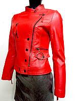 Жіноча куртка з екошкіри