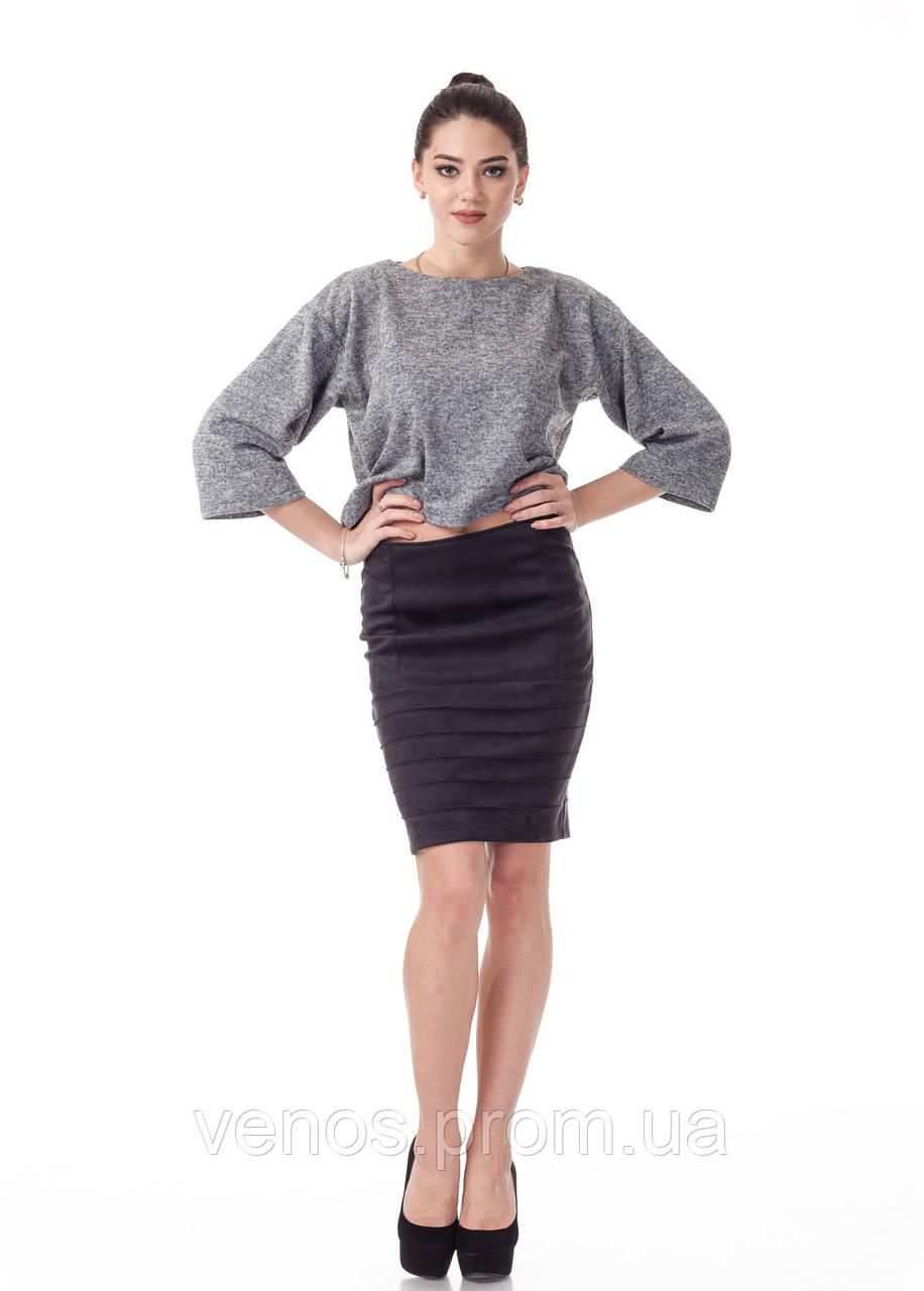 Модная женская юбка из замши. Ю092