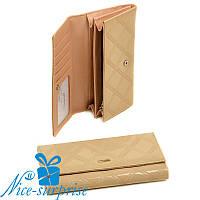 Женский кошелёк на кнопке Cossrol Series-2 WD-51 beige (серия Rose), фото 1