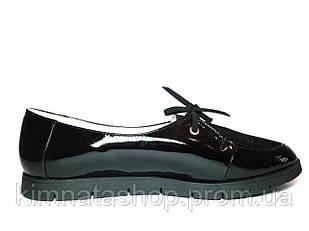 Туфлі жіночі шкіряні чорні Veronika Black Leather, розмір 36