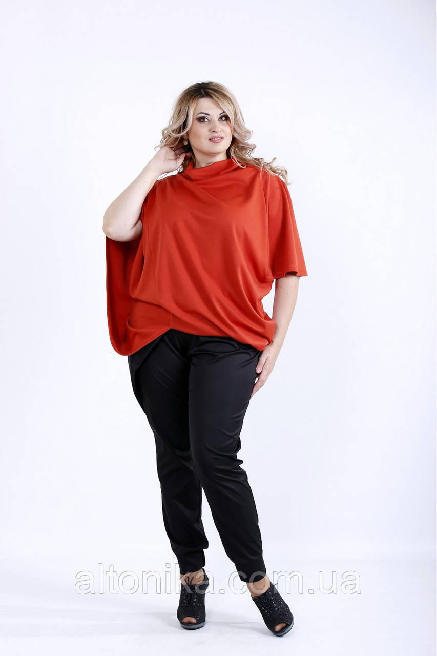 Свободная  блузка из трикотажа 42- 74