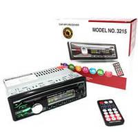 Автомагнитола 1DIN MP3-3215DBT RGB панель MP3 (без диска), фото 1
