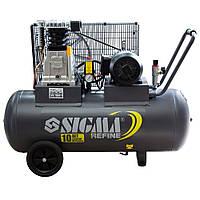 Компрессор ременной двухцилиндровый 380В 2.2 кВт 508 л/мин 10 бар 100 л Refine (7044211)
