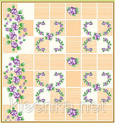 Скатерть на стол Тонкая с цветочками